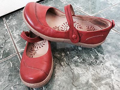 Ladies Red Mary Jane Shoes By Ziera Kumfs Size 38