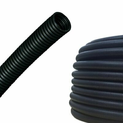 AUPROTEC Corrugated Tube 19mm Non-Slit Wire Loom Conduit M20 Cable Sleeve 5-50m