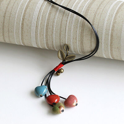 The fruits of summer] creative handmade ceramic sweater chain necklace 1P