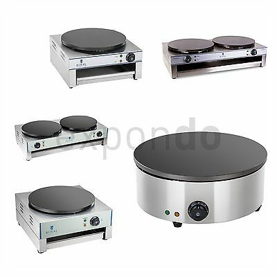 CREPE MAKER COMMERCIAL PANCAKE MACHINE | STAINLESS STEEL 1x OR 2x 3000 W Ø 40 CM