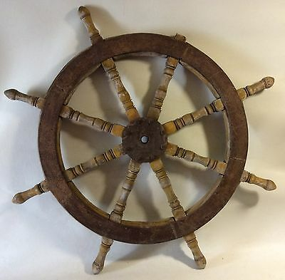 Large Antique Original Ship's Wheel