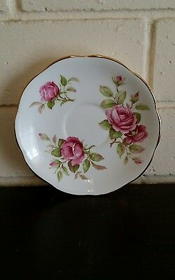 Rare 1950s Royal Crown Trentham Staffordshire Roses Saucer