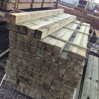 2.4m 100x100mm brown,treated,fence posts,landscaping pack of 10