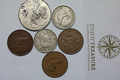 New Zealand Old Coin Lot A60 Gg36