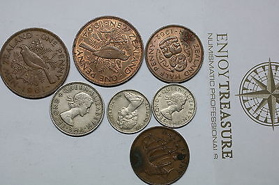 New Zealand Old Coin Lot A60 Gg29