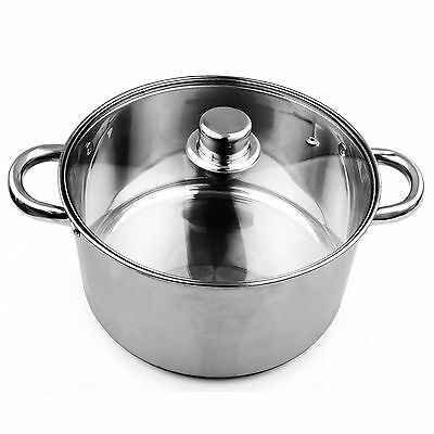 New Deep Stainless Steel Stock Soup Pot Stockpot Catering Boiling