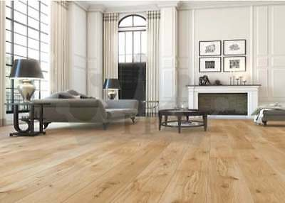 Engineered Click System Oak Flooring Lacquered Wood 190mmX 15/4mm Floor Hardwood