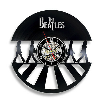 Beatles Vintage Vinyl Record Clock The Fab Four 3D Wall Clock Art Decor for Fan