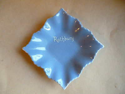 Small Souvenir Blue Dish from Rothbury in Northumberland
