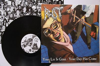 Rot – Your Lie Is Gone - Your Day Has Come LP 1st PRESS GRINDCORE 2001