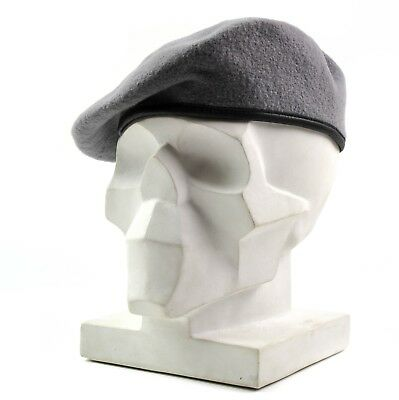 Genuine Czech army grey beret hat. Czech Military armed forces cap hat