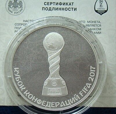 Russia 2016 3 rubles FIFA Confederations Cup 2017 1oz Proof Silver Coin