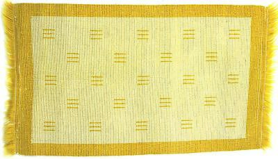 A modernist Scandinavian rug Reversible Gold/yellow & white Midcentury  50's 60'