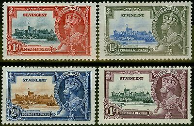 St Vincent 1935 Jubilee set of 4 SG142-145 Fine Mtd Mint