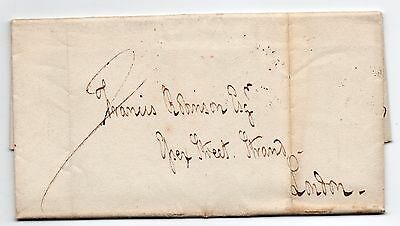 1827 entire letter from Capt Bligh in Southampton to London manuscript 2/-5???