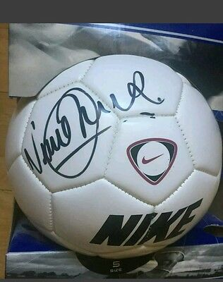 Signed football ball by Vinny Jones with photo proof