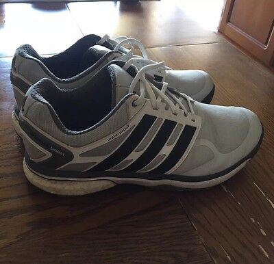 Men's Adidas Adipower Boost Golf Shoes Grey/Black/White 9.5