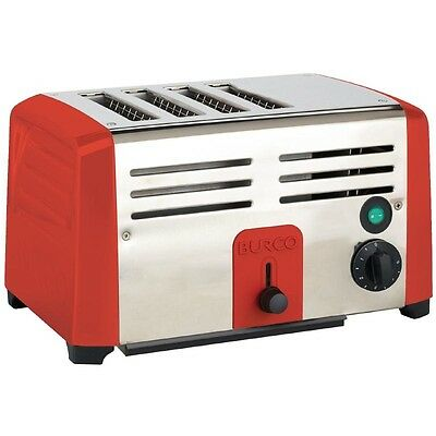 Burco Commercial Toaster TSSL14 RED EBDN655-B