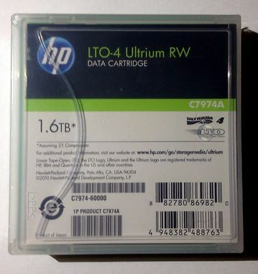 LTO 4 Ultrium RW 1 HP 1 piece. New,sealed.LTO 4 Data Cartridge 1.6 TB! . C7974A