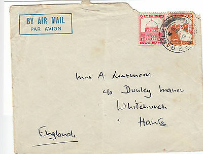 M 1743 Palestine Er Ramle 1935 airmail cover to UK;  13 rate