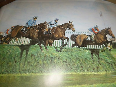 "Limited Edition Grand National Print "" Over The Water """