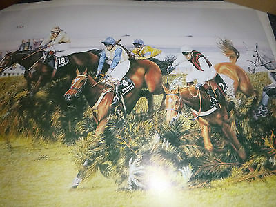"Limited Edition Grand National Print "" Over The Chair """
