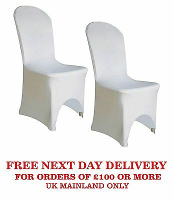 1-100pcs White Premier Quality Spandex Lycra Chair Cover Wedding  ARCH FRONT