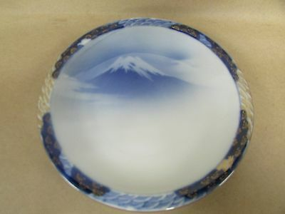 N.y.k. Line Shipping Liner China Plate Mt Fuji  Antique Ceramics Wall Porcelain