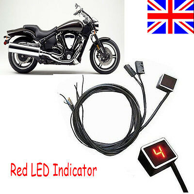 Red LED Digital Gear Indicator Motorcycle Display Shift Lever Sensor Racing Use