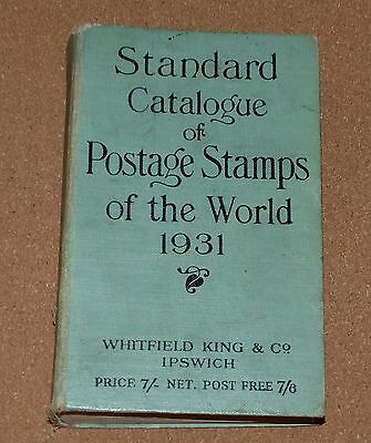 STANDARD CATALOGUE OF WORLD STAMPS WHITFIELD &Co IPSWICH, 1931