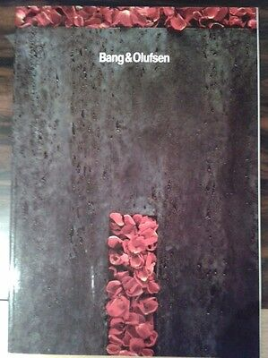 Bang & Olufsen Catalog 1991-1992 in English 90 pages. RARE for collectors!