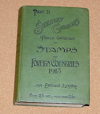Stanley Gibbons Catalogue Stamps Of Foreign Countries 1913 Edition