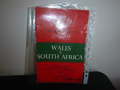 Wales V South Africa Rugby Programme 1960