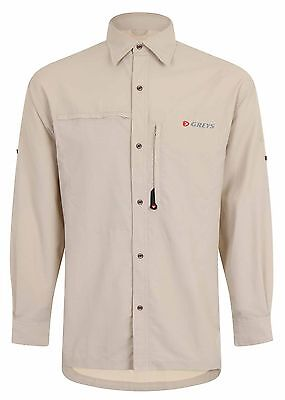 Greys Strata Lightweight 2 Zipped Pockets Stone Fly Fishing Shirt - All Sizes