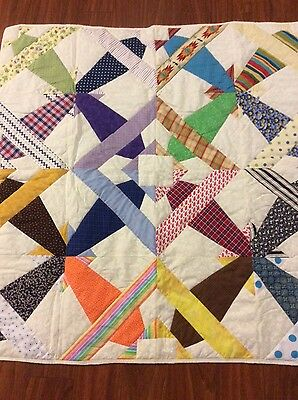 Handmade flying airplanes baby quilt