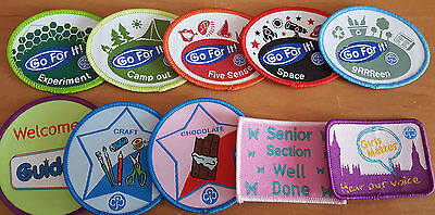 Girlguiding Guides Current Badges