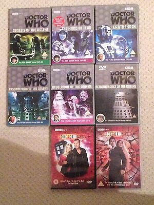 Dr Who DVD Bundle collection (Earthshock, Hand of fear, Davros stories)