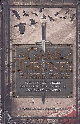 A Game of Thrones Puzzle Book BRAND NEW BOOK by Tim Dedopulos (Hardback, 2016)
