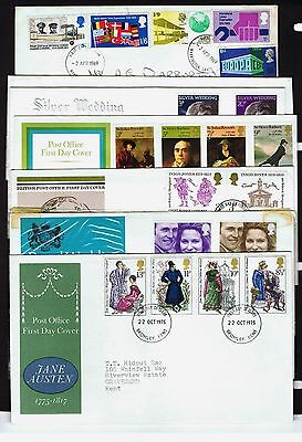 Great Britain - 42 First Day Covers 1969 to 1998