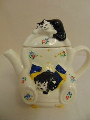 Stunning, Collectable, Wade, Whimsical Teapots, Feline Collection