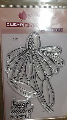 Woodware Clear Magic Stamp 'Whimsical Flower - Sally Anne - JGS446