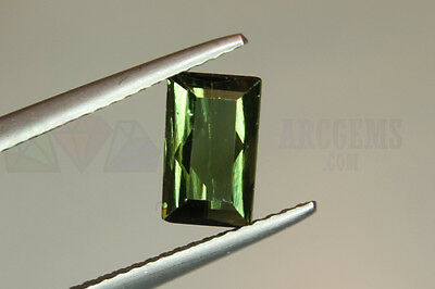 Green Tourmaline Rectangle 1.14ct VS Loose Natural Gemstone 8x5mm Afghanistan