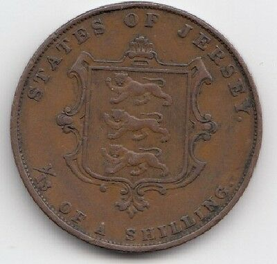 1858 Queen Victoria Jersey 1/13 Shilling