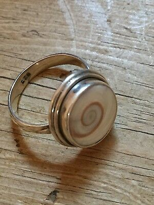 vintage silver shell ring