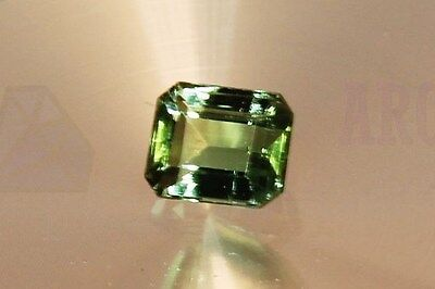 Green Tourmaline Octagon 1.04ct VS Loose Natural Gemstone 5x6mm Afghanistan