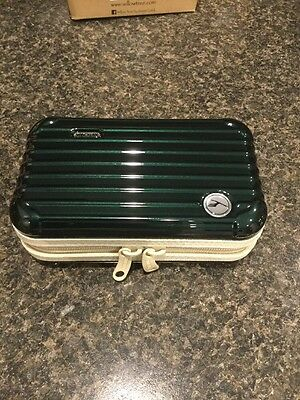 RIMOWA Lufthansa 1st Class A 380 Amenity Kit NEW Color Jet Green And Tan Empty