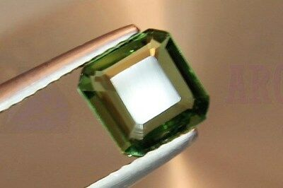 Green Tourmaline Octagon 1.08ct VS Loose Natural Gemstone 6.5x6.5mm Afghanistan