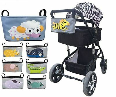 Baby Pram Organizer Bag with Cup Holder for Pushchair Stroller Jogger Infant