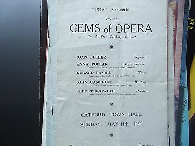Concert Programme. Catford Town Hall