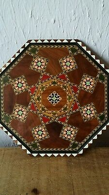 Inlayed wooden tray